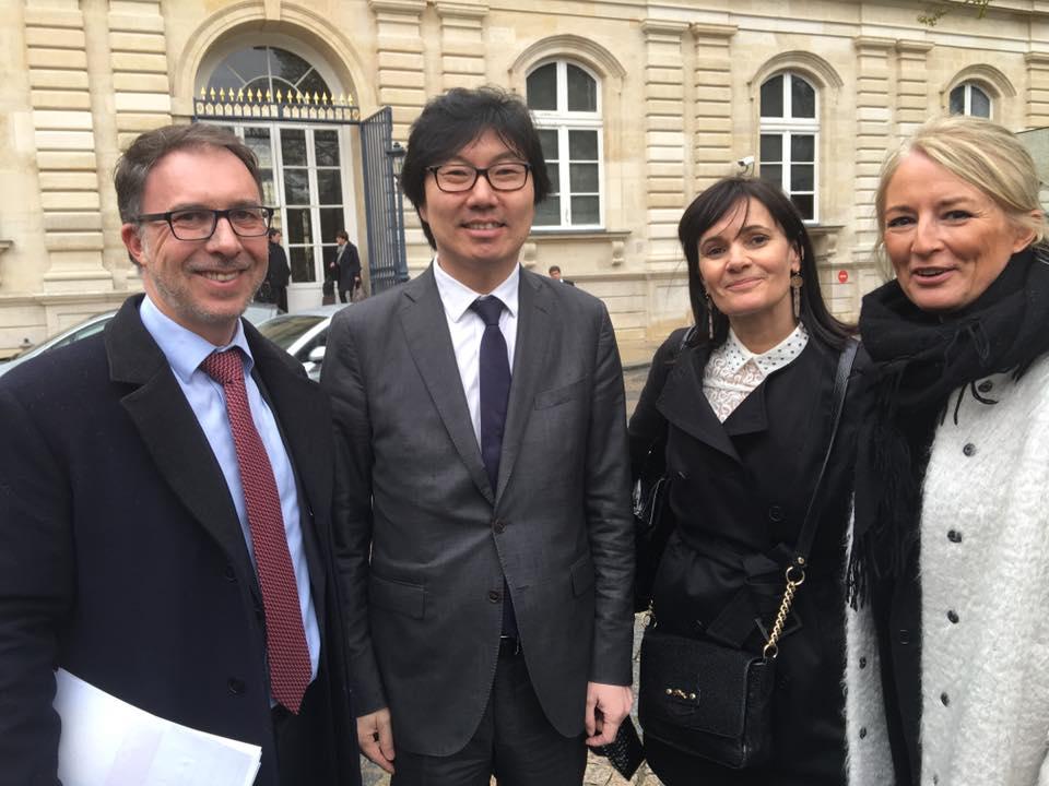 Samuel Tual, Jean-Vincent Placé, Nathalie Hutter et Elisabeth Doineau
