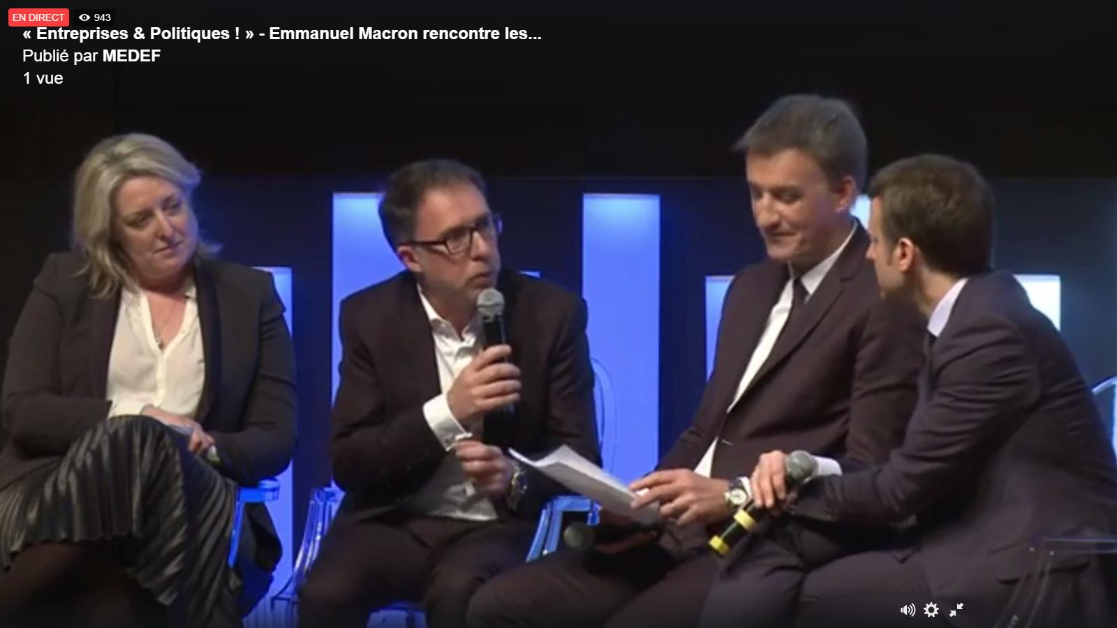 Samuel Tual aux Matinales Entreprises & Politiques du MEDEF – Mars 2017